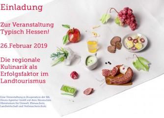 Typisch Hessen! Die regionale Kulinarik als Erfolgsfaktor im Landtourismus am 26.02.2019 in Kassel