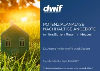 Studie: Verbesserung der Erreichbarkeit von Tourismusangeboten im ländlichen Hessen