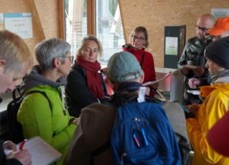 Journalisten auf Grenztour in der Rhön